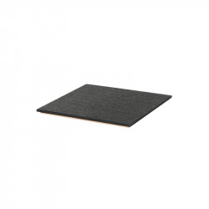Tava patrata neagra din lemn pentru ghiveci 26x26 cm Lara Ferm Living