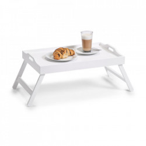 Tava pliabila alba din MDF 35,5x56,5 cm pentru mic dejun Bed Tray White Zeller
