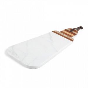 Tocator alb din marmura 38 cm Bryant La Forma