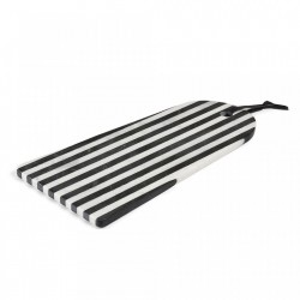 Tocator alb/negru din marmura 40,5x25 cm Bergman Kave Home