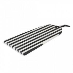 Tocator alb/negru din marmura 40,5x25 cm Bergman La Forma