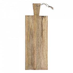 Tocator dreptunghiular maro din lemn de mango 20x60 cm Palmetto Madam Stoltz