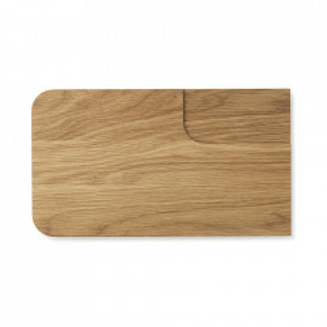 Tocator dreptunghiular maro din lemn de stejar 20x35 cm Part Normann Copenhagen