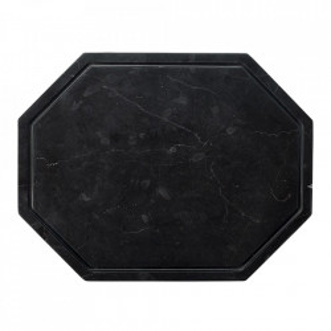 Tocator octagonal negru din marmura 25x32,5 cm Wonder Bolia