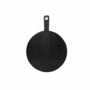 Tocator rotund din lemn negru 23 cm Black S HK Living