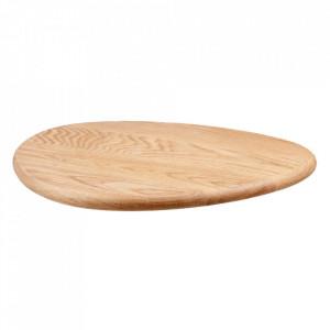 Tocator rotund maro din lemn 40 cm Tapas Large Bolia