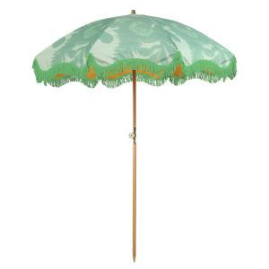 Umbrela pentru plaja verde fistic din poliester si lemn Lily HK Living