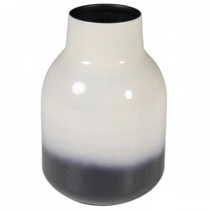Vaza alb/negru din metal 28 cm Haley Zago