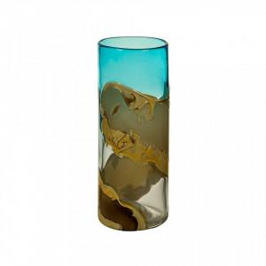 Vaza albastra din sticla 30 cm Decorated Santiago Pons