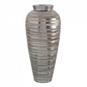 Vaza decorativa argintie din ceramica 60 cm Ambias Ixia