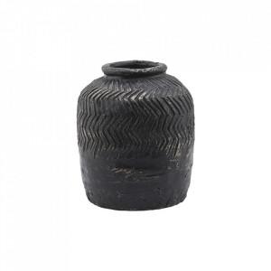 Vaza decorativa neagra din ciment 21 cm Siliguri House Doctor