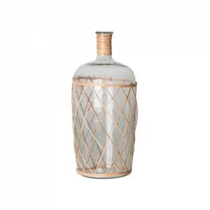 Vaza decorativa transparenta/maro din sticla 48 cm Alero Vical Home