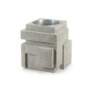 Vaza gri din beton 30 cm Geometry Serax