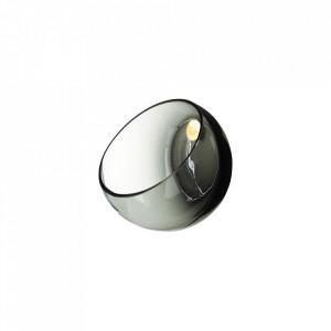 Vaza gri din sticla pentru perete 14,5 cm Marly Wall Bolia