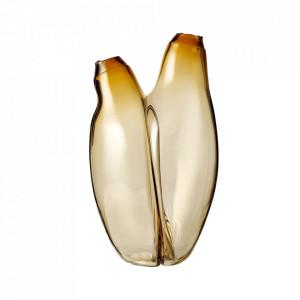 Vaza maro chihlimbar din sticla 34 cm Hug Bolia