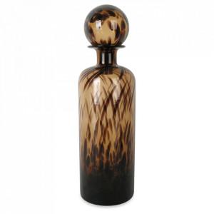 Vaza maro chihlimbar din sticla 41 cm Bottle Leopard Opjet Paris