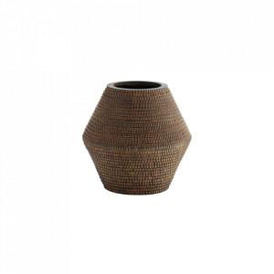 Vaza maro din lut 29 cm Striped Madam Stoltz