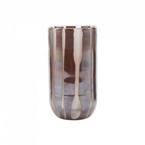 Vaza maro din sticla 16 cm Bai House Doctor
