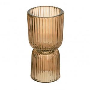 Vaza maro din sticla 17 cm Amalia Kave Home