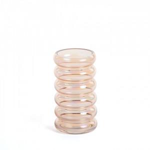 Vaza roz din sticla 24.5 cm Aureline Small La Forma