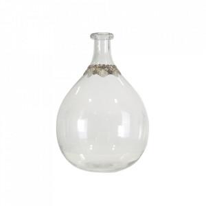 Vaza transparenta/argintie din sticla 40 cm Birgit Vical Home