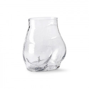 Vaza transparenta din sticla 23 cm Bum HK Living