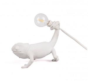 Veioza alba din rasina 14 cm Chameleon Still Seletti