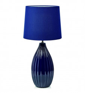 Veioza albastra din textil si ceramica 50,5 cm Stephanie Markslojd