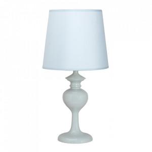 Veioza albastru azur din PVC si otel 41 cm Berkane Candellux