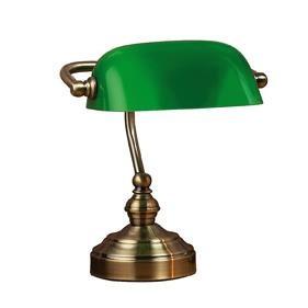 Veioza din metal si sticla verde 25 cm Bankers Markslojd