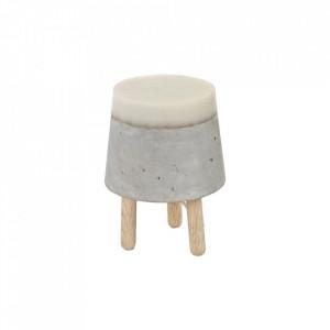 Veioza gri din beton cu LED 24 cm Yvo Serax