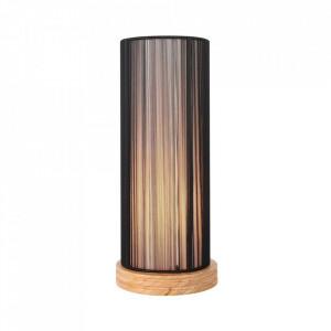 Veioza maro din PVC si lemn 33 cm Kioto Candellux