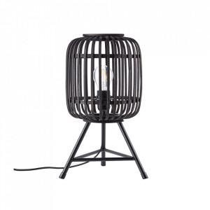Veioza neagra din lemn si metal 41 cm Woodrow Brilliant