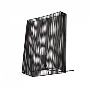 Veioza neagra din otel 38 cm Ombre Serax