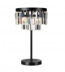 Veioza neagra/transparenta din metal si sticla cu 3 becuri 53 cm Ventimiglia Lamp Markslojd