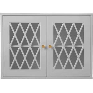 Vitrina gri din MDF pentru perete 70 cm Harlequin Grey Cam Cam