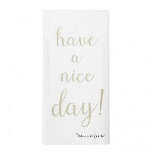 Set 16 servetele 40x40 cm Nice Day Bloomingville