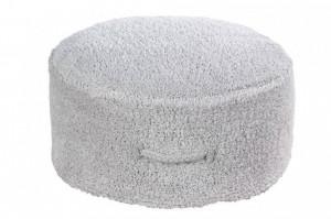 Puf rotund gri din bumbac pentru copii 50 cm Chill Pearl Grey Lorena Canals