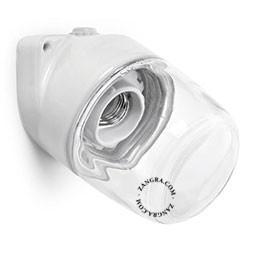 Aplica portelan alb transparent cabluri vizibile Zangra