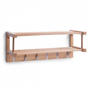 Cuier maro din lemn de bambus si aluminiu Bamboo Zeller