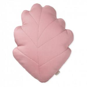 Perna decorativa roz pentru copii din bumbac organic 30x38 cm Leaf Berry Cam Cam