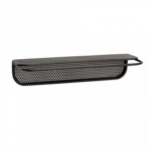 Raft negru din metal 35 cm Wall Shelf Hubsch