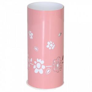 Decoratiune luminoasa roz/alba din metal si plastic Pipi Lamp Aldex