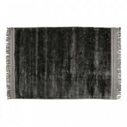 Covor gri din viscoza si bumbac 170x240 cm Ravel Anthracite Be Pure Home