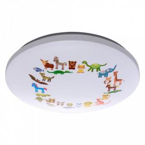Plafoniera multicolora din metal si plastic cu LED pentru copii Kinder Smile II MW Glasberg
