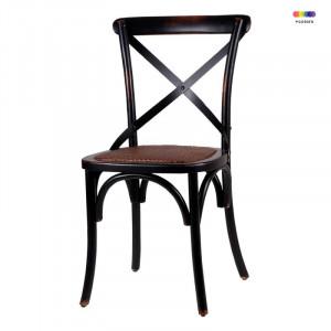 Scaun dining negru din lemn Ariana Black Somcasa