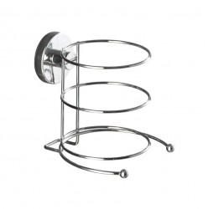 Suport argintiu din inox 13,5 cm pentru uscator par Vacuum-Loc Hairdryer Wenko