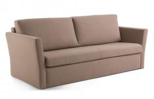Canapea extensibila maro din textil si metal 220 cm Westriver Visco La Forma