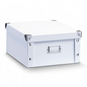 Cutie alba cu capac din carton White Cardboard Mini Zeller