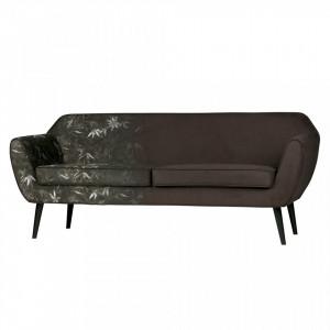 Canapea maro din poliester 187 cm Rocco Woood